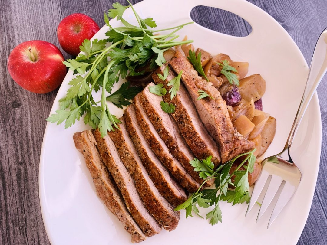 Slow-Roasted Pork Brisket with Onions & Apples – Recipe! Image 1
