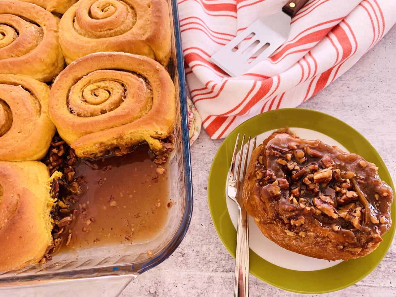 Pumpkin Pecan Sticky Buns – Recipe! Image 2