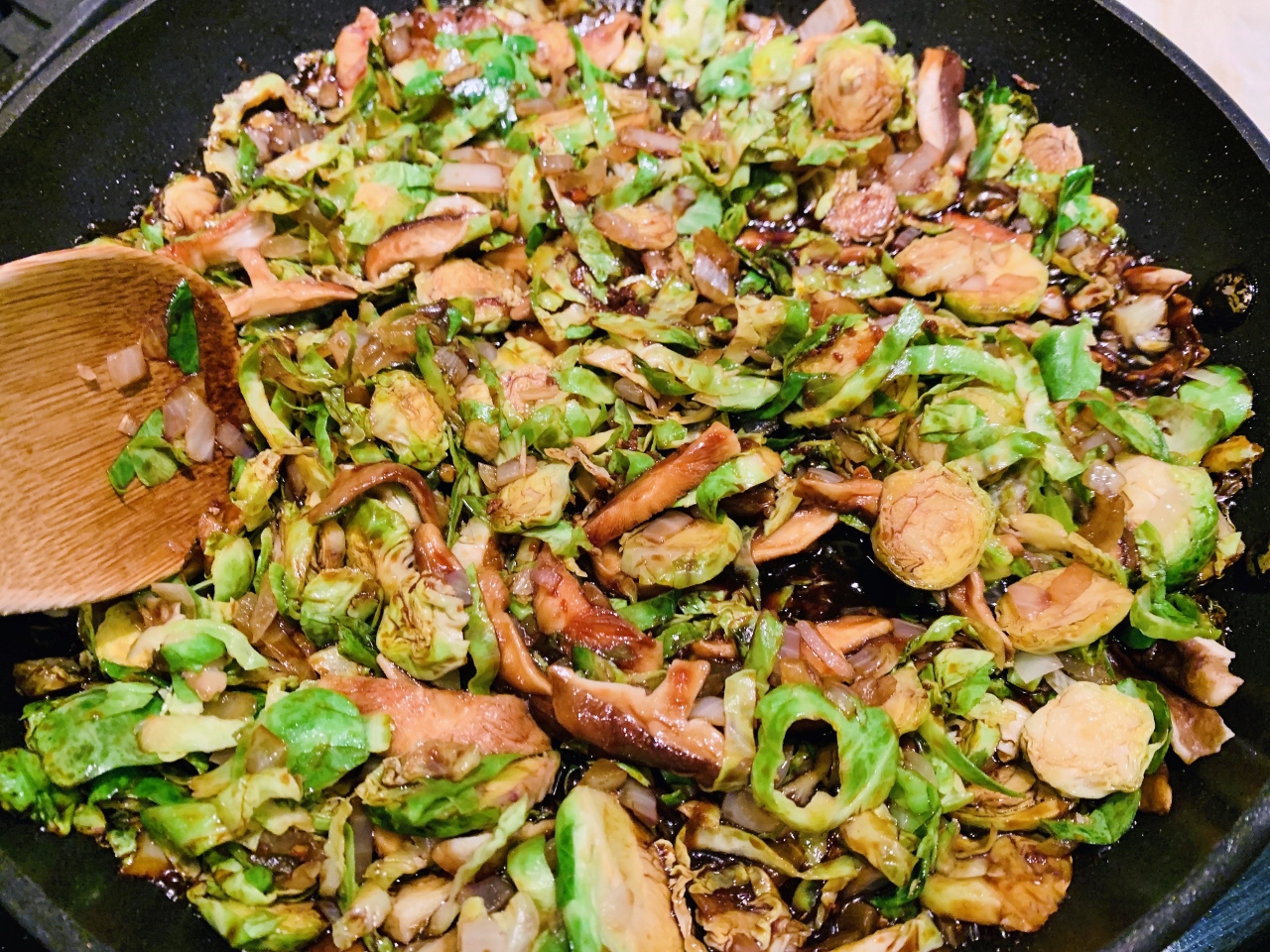 Shaved Brussels Sprouts & Shiitakes with Asian Flavors – Recipe! Image 2