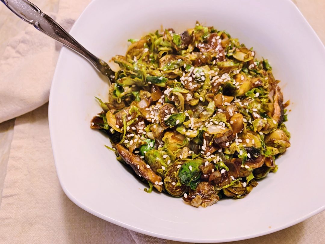 Shaved Brussels Sprouts & Shiitakes with Asian Flavors – Recipe! Image 1