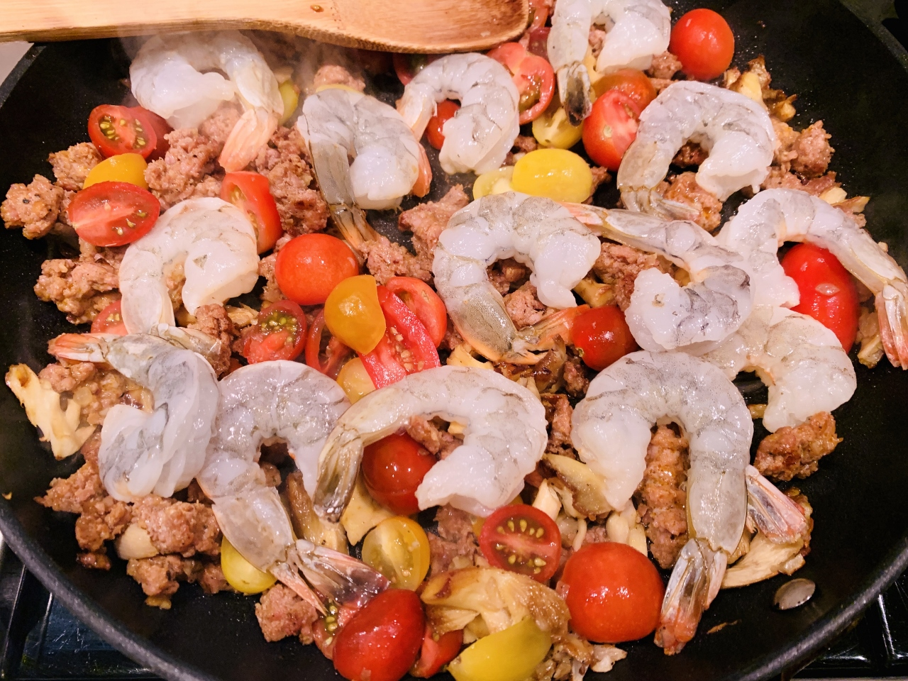 Chorizo & Shrimp Angel Hair Pasta – Recipe! Image 3