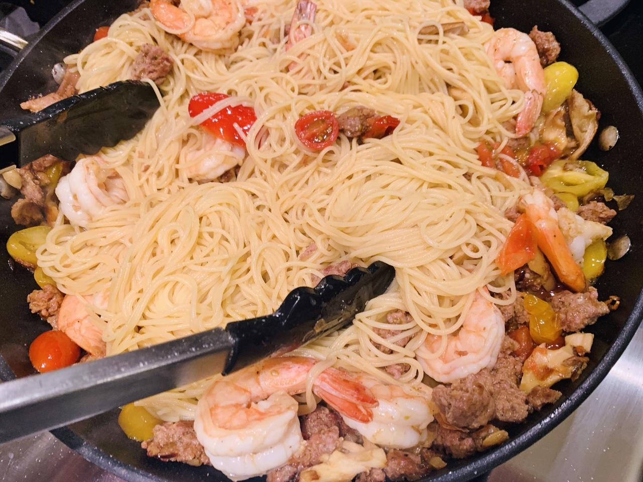 Chorizo & Shrimp Angel Hair Pasta – Recipe! Image 5