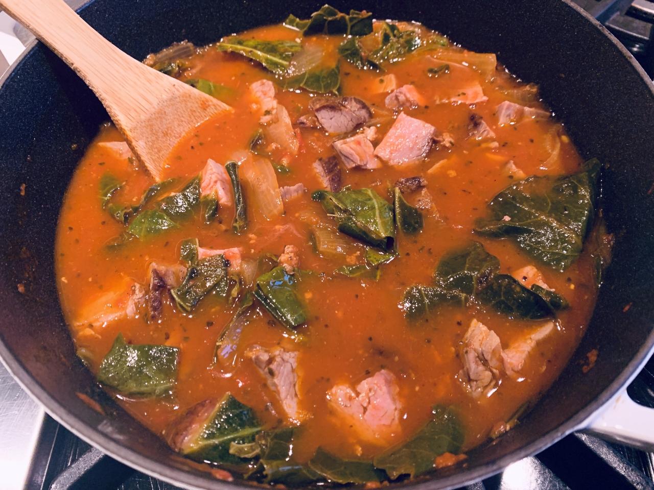 Tomatoey Beef & Greens Soup – Recipe! Image 4