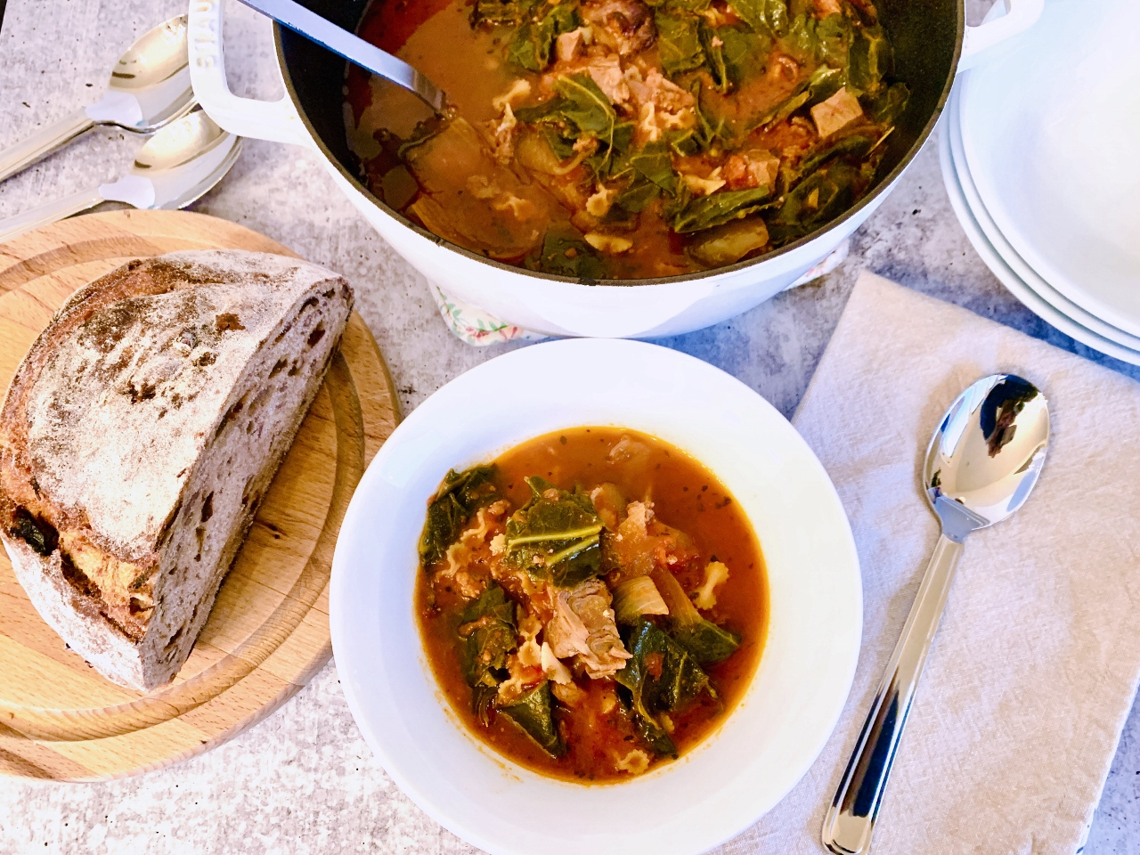 Tomatoey Beef & Greens Soup – Recipe! Image 2