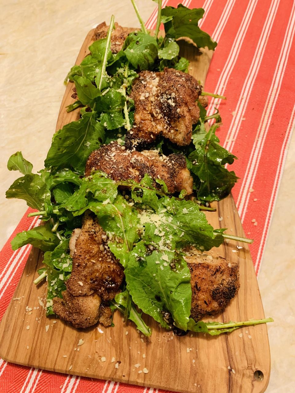 Crispy Chicken, Arugula, Parmesan, Balsamic Image 5