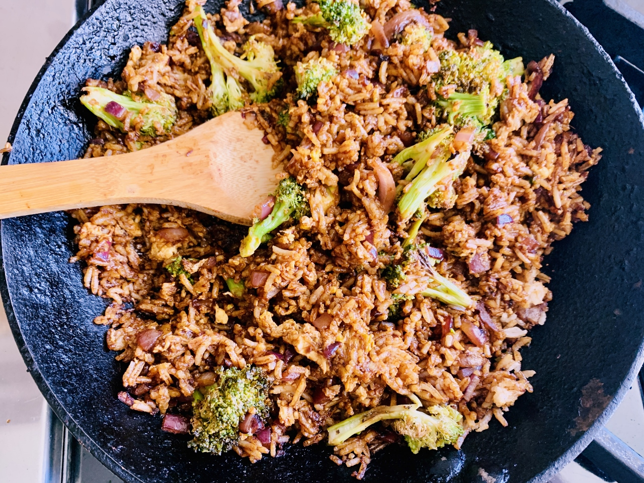 Got Leftover Rice?  Gingery Broccoli Fried Rice – Recipe! Image 3