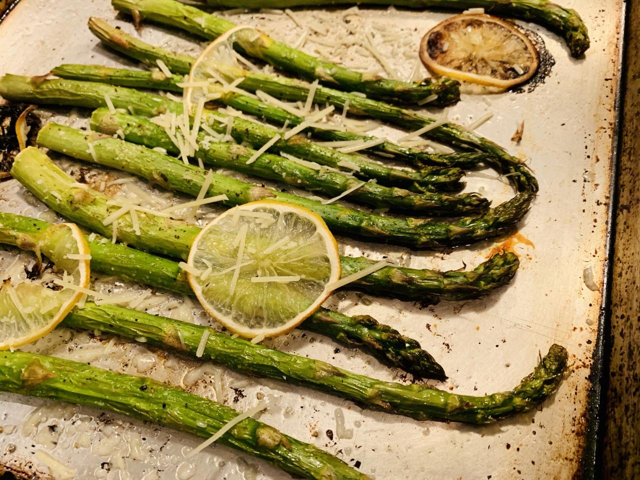 Salt & Pepper Salmon with Roasted Lemony Asparagus – Recipe! Image 6