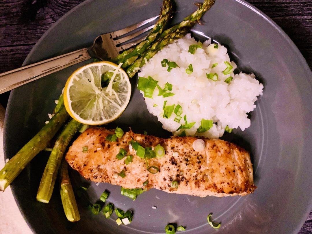 Salt & Pepper Salmon with Roasted Lemony Asparagus – Recipe! Image 1