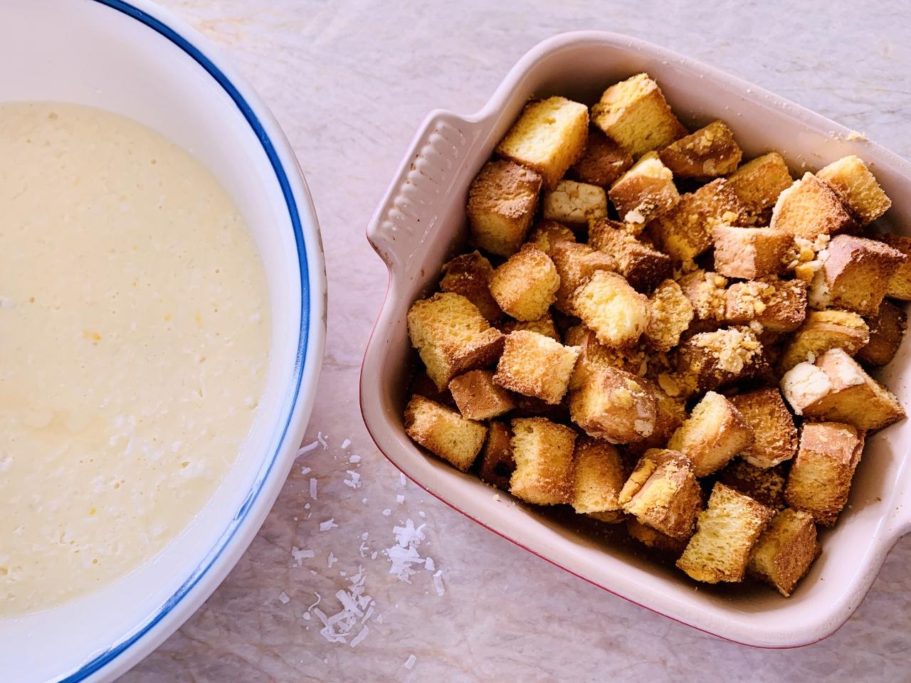 Concha Coconut Bread Pudding – Recipe! Image 4