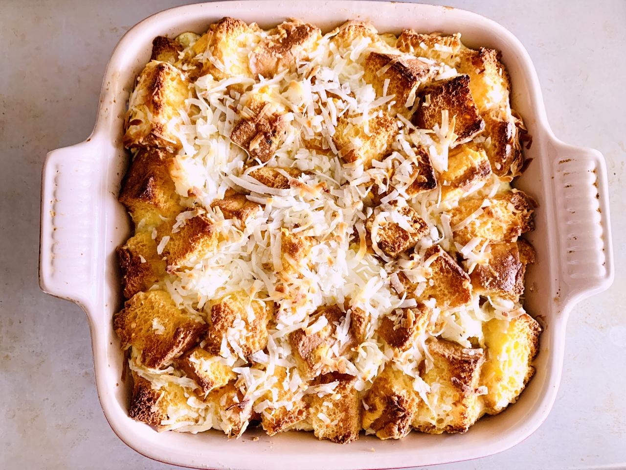 Concha Coconut Bread Pudding – Recipe! Image 5