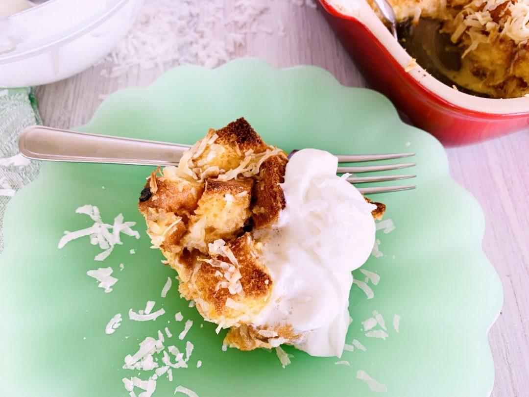 Concha Coconut Bread Pudding – Recipe! Image 1