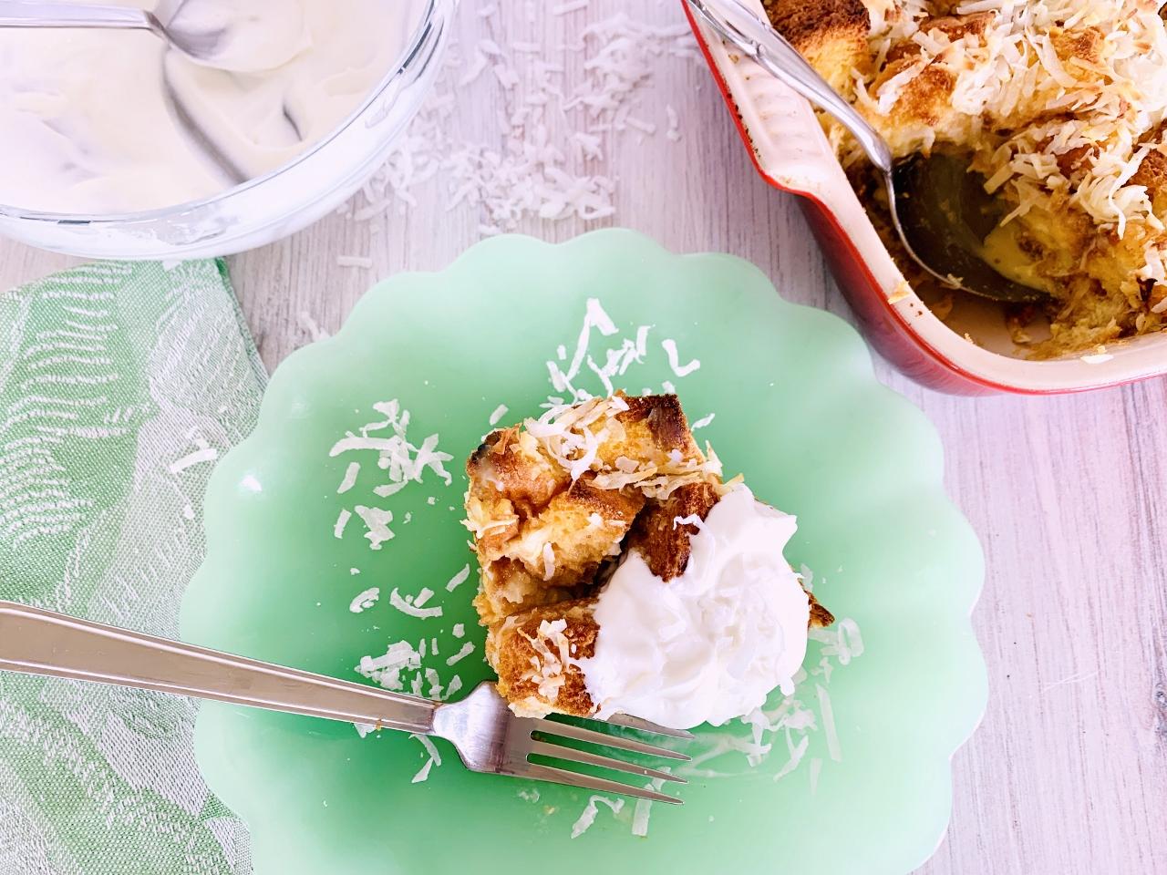 Concha Coconut Bread Pudding – Recipe! Image 2