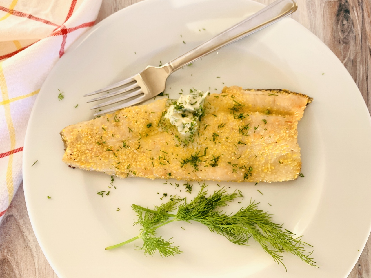 Cornmeal Crusted Trout with Dill Butter – Recipe! Image 4