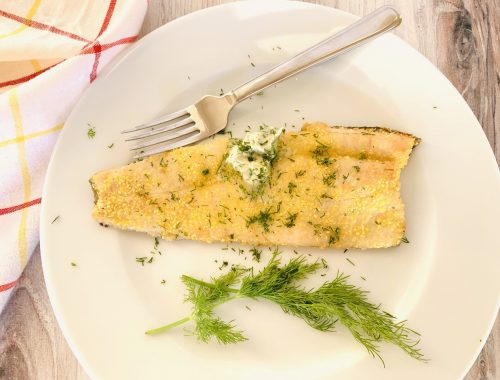 Cornmeal Crusted Trout with Dill Butter – Recipe!