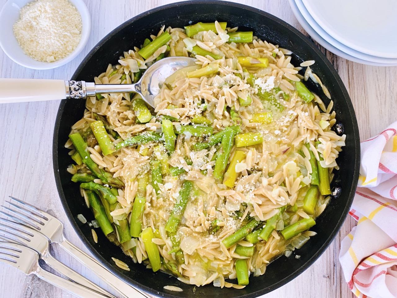 Creamy Whole-Grain Orzo with Asparagus – Recipe! Image 2
