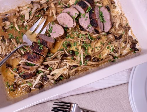 Roasted Pork Tenderloin with Wild Mushrooms – Recipe!