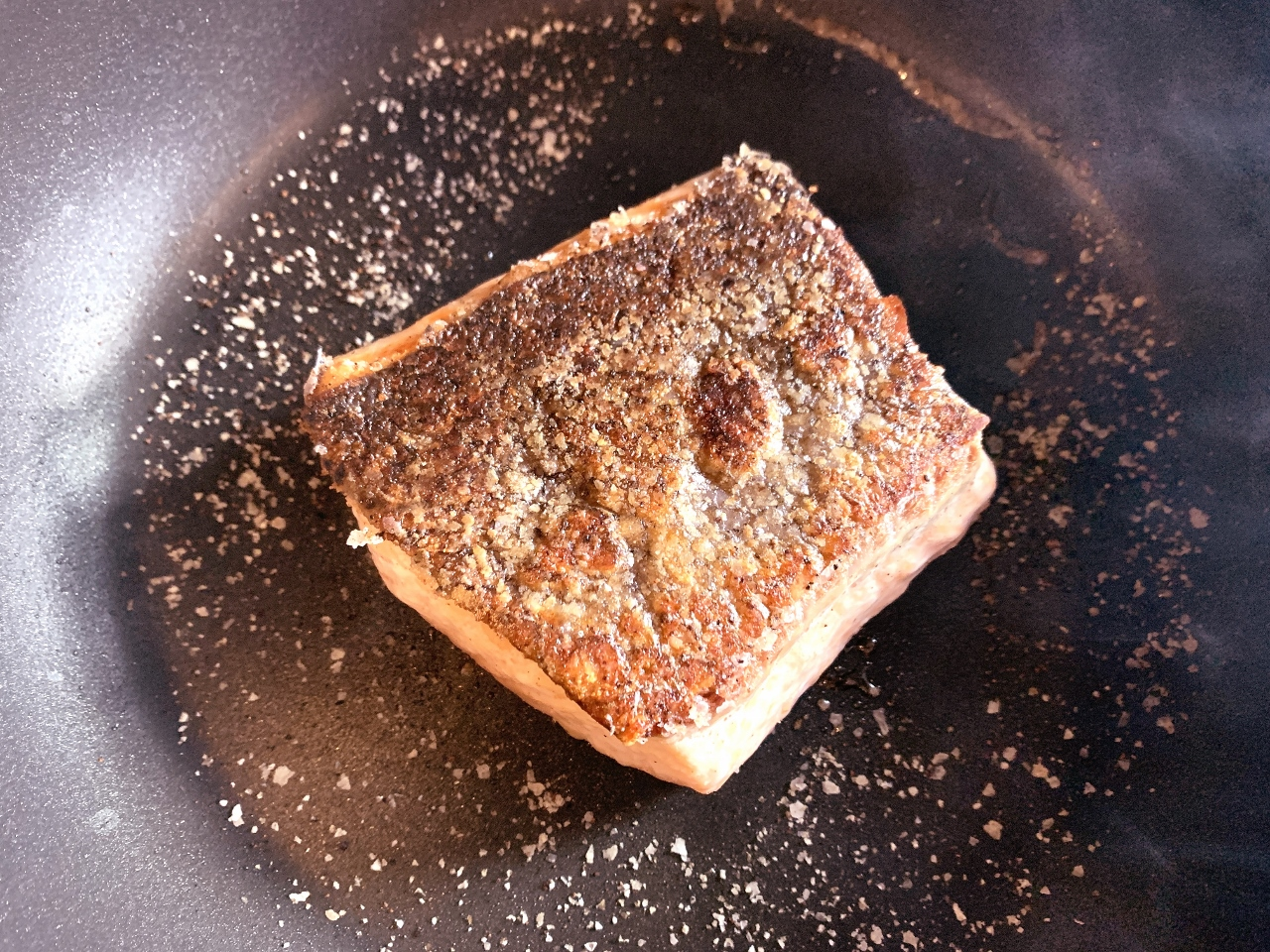 Crispy Skinned Salmon with Agrodolce Kumquat Compote – Recipe! Image 4
