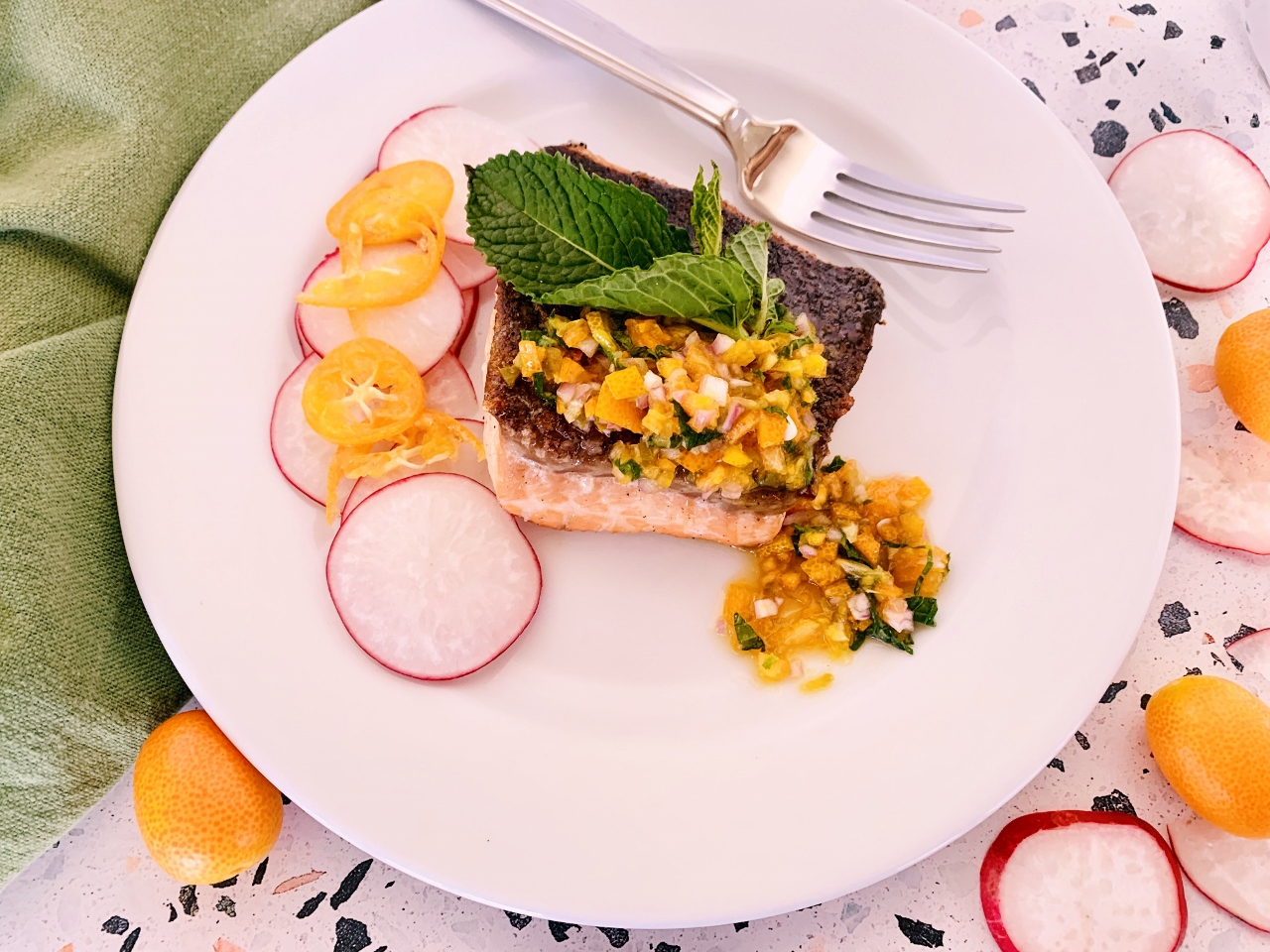 Crispy Skinned Salmon with Agrodolce Kumquat Compote – Recipe! Image 6