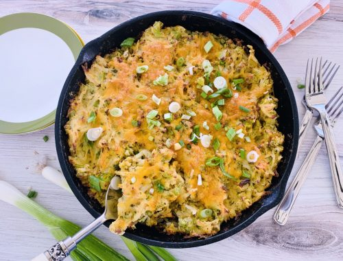 Broccoli-Cheddar Skillet Hash Brown Casserole – Recipe!