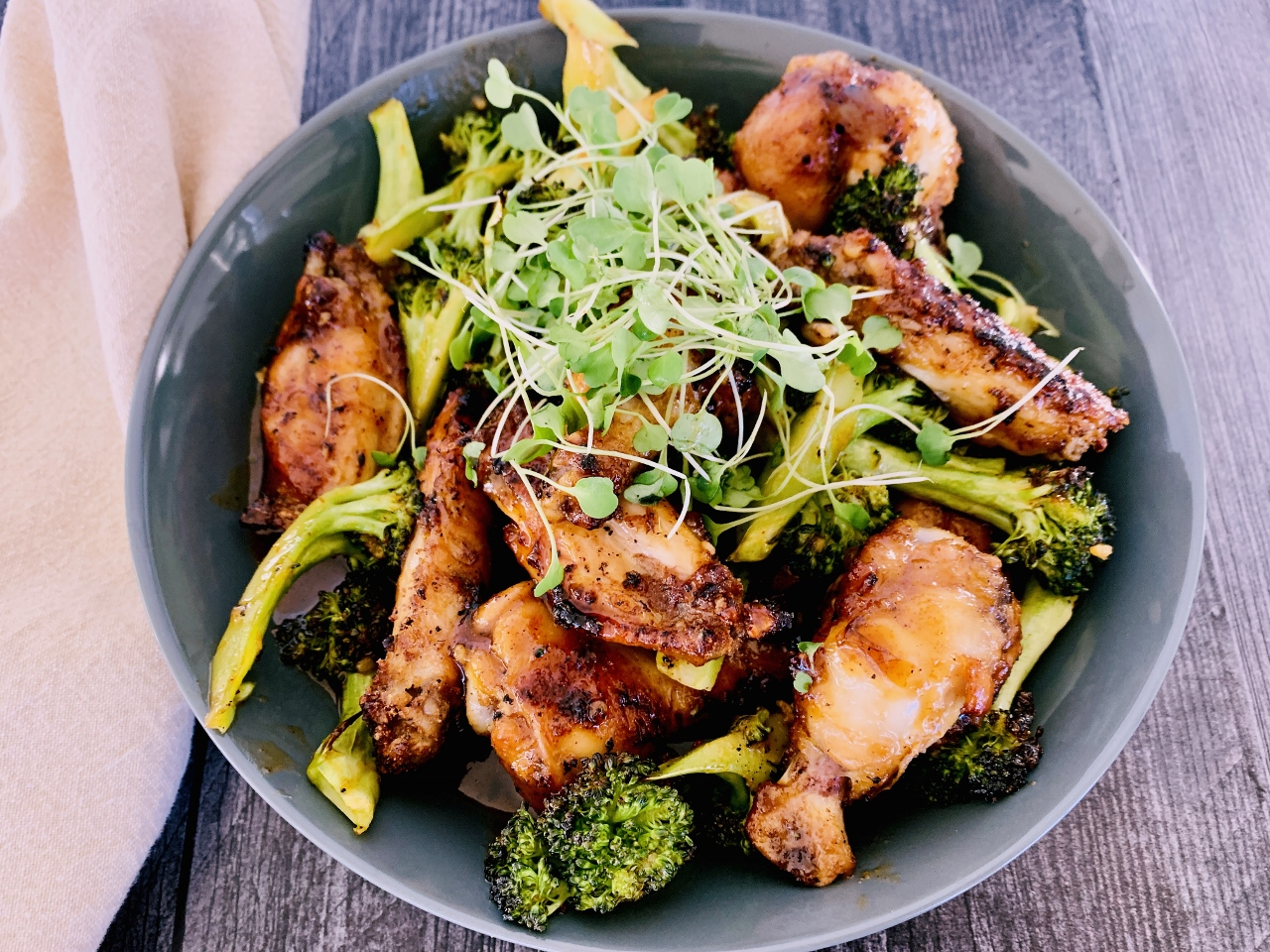 Hot Honey Garlic Chicken Wings & Broccoli – Recipe! Image 6