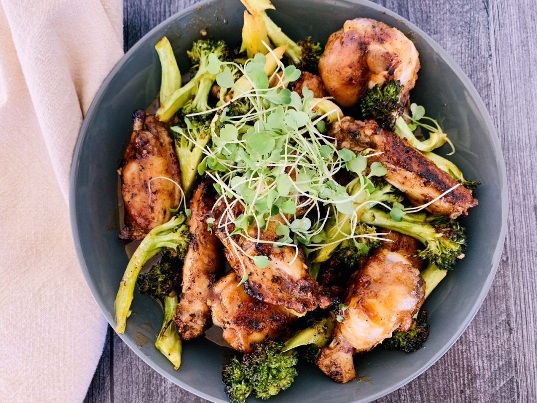Hot Honey Garlic Chicken Wings & Broccoli – Recipe! Image 1