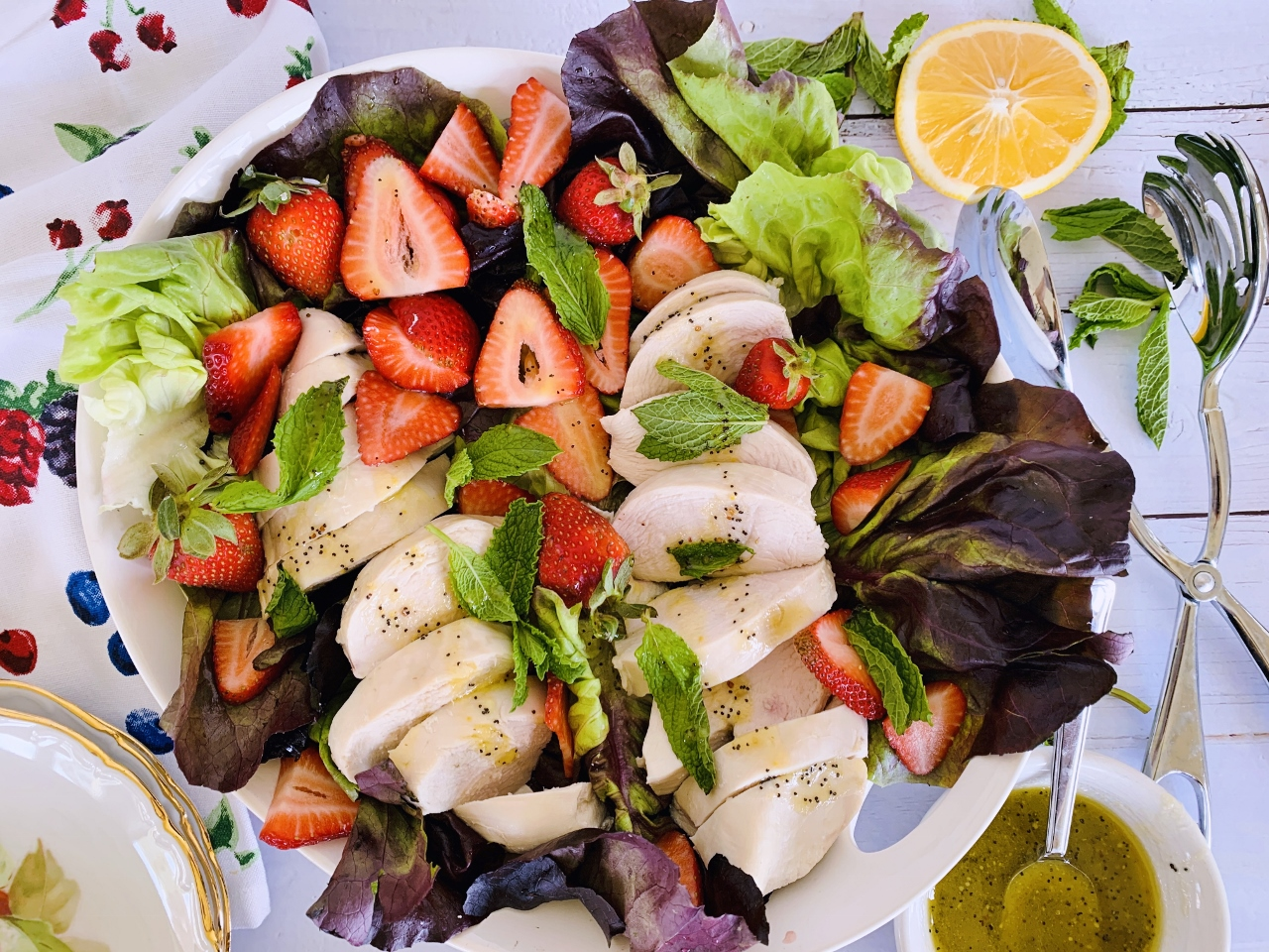 Poached Chicken Salad with Strawberries & Honey Poppy Seed Vinaigrette – Recipe! Image 5
