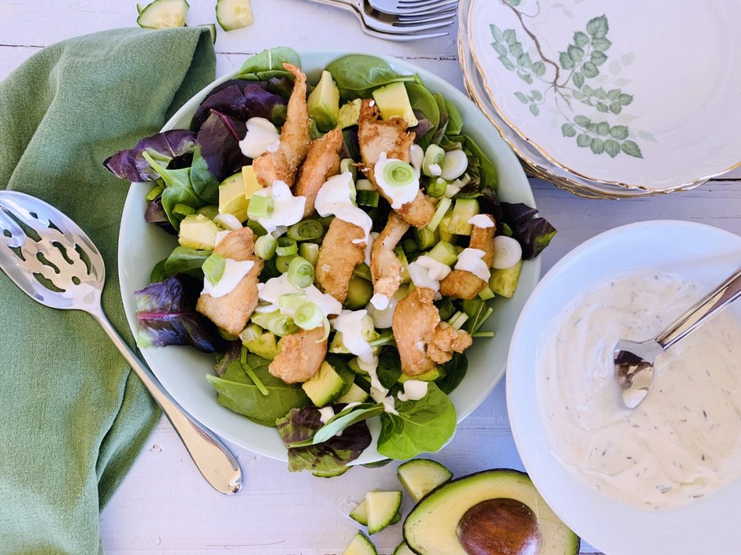 Crispy Chicken Salad with Cool Ranch Dressing – Recipe! Image 1