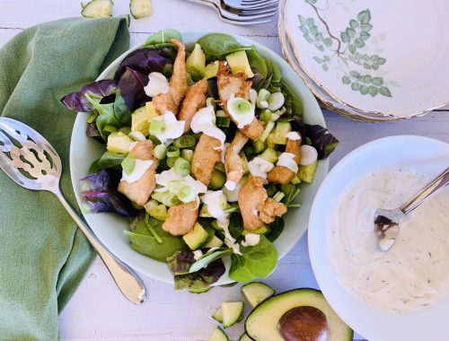 Crispy Chicken Salad with Cool Ranch Dressing – Recipe!