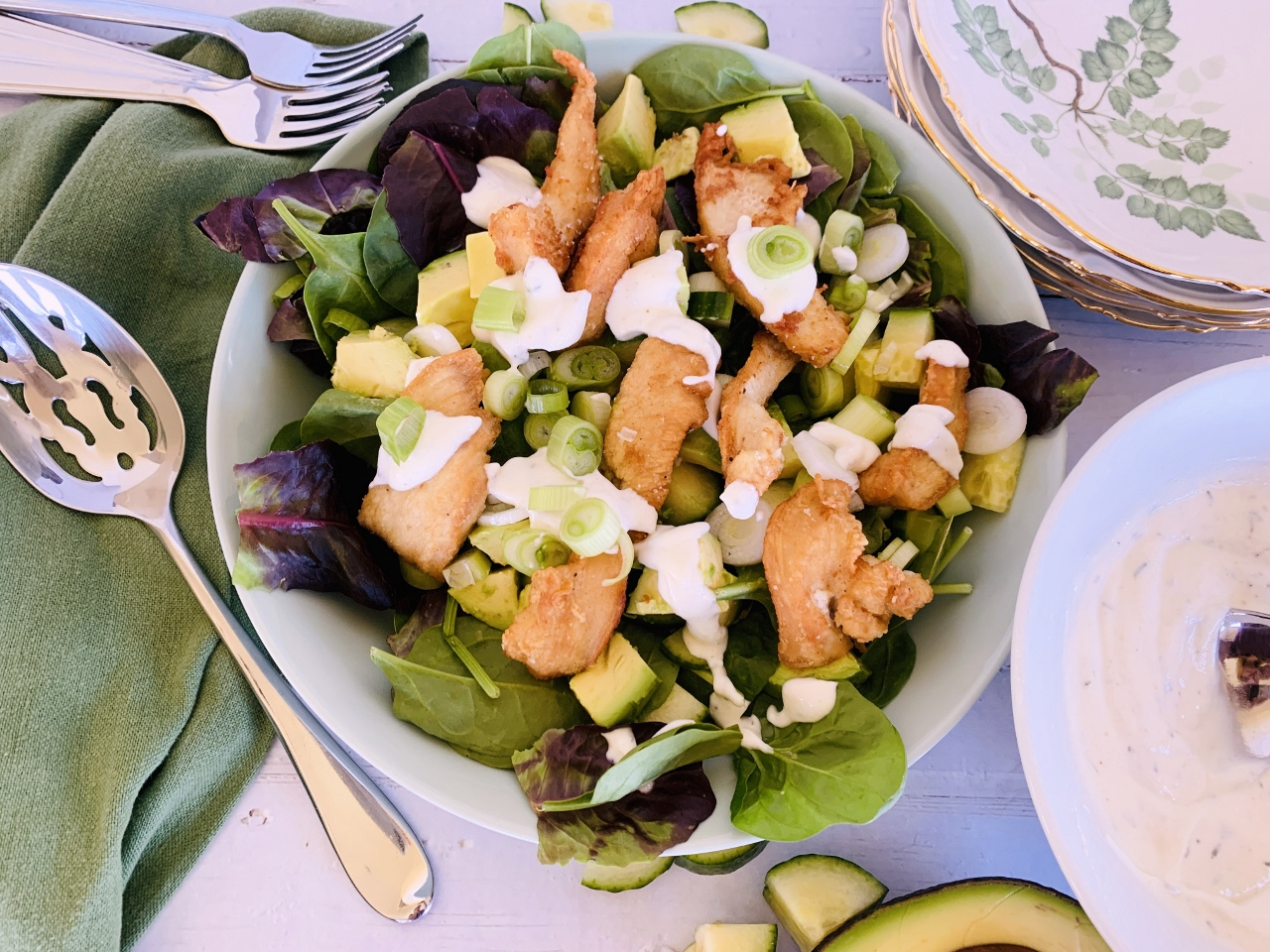 Crispy Chicken Salad with Cool Ranch Dressing – Recipe! Image 3