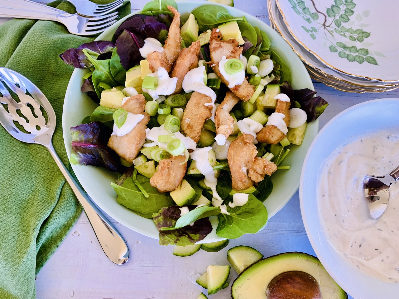 Crispy Chicken Salad with Cool Ranch Dressing – Recipe! Image 2