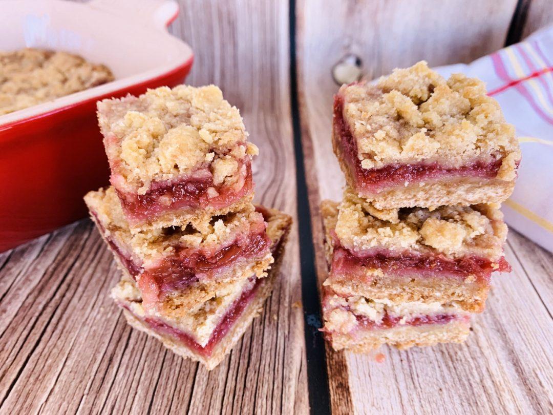 Rhubarb-Raspberry Crumble Bars – Recipe! Image 1