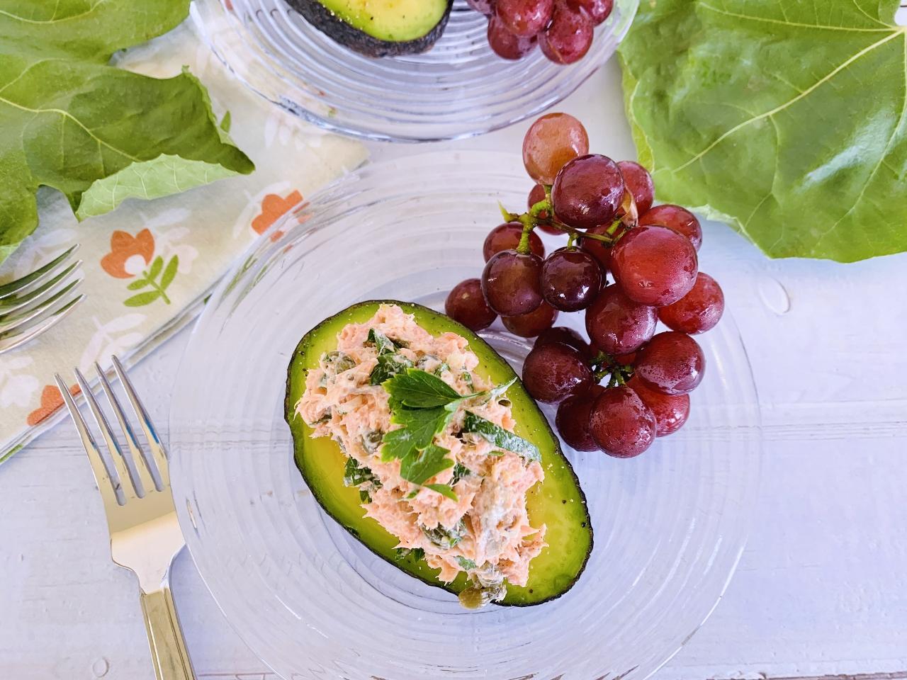 Salmon Salad Stuffed Avocados – Recipe! Image 5
