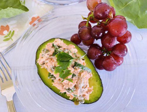 Salmon Salad Stuffed Avocados – Recipe!