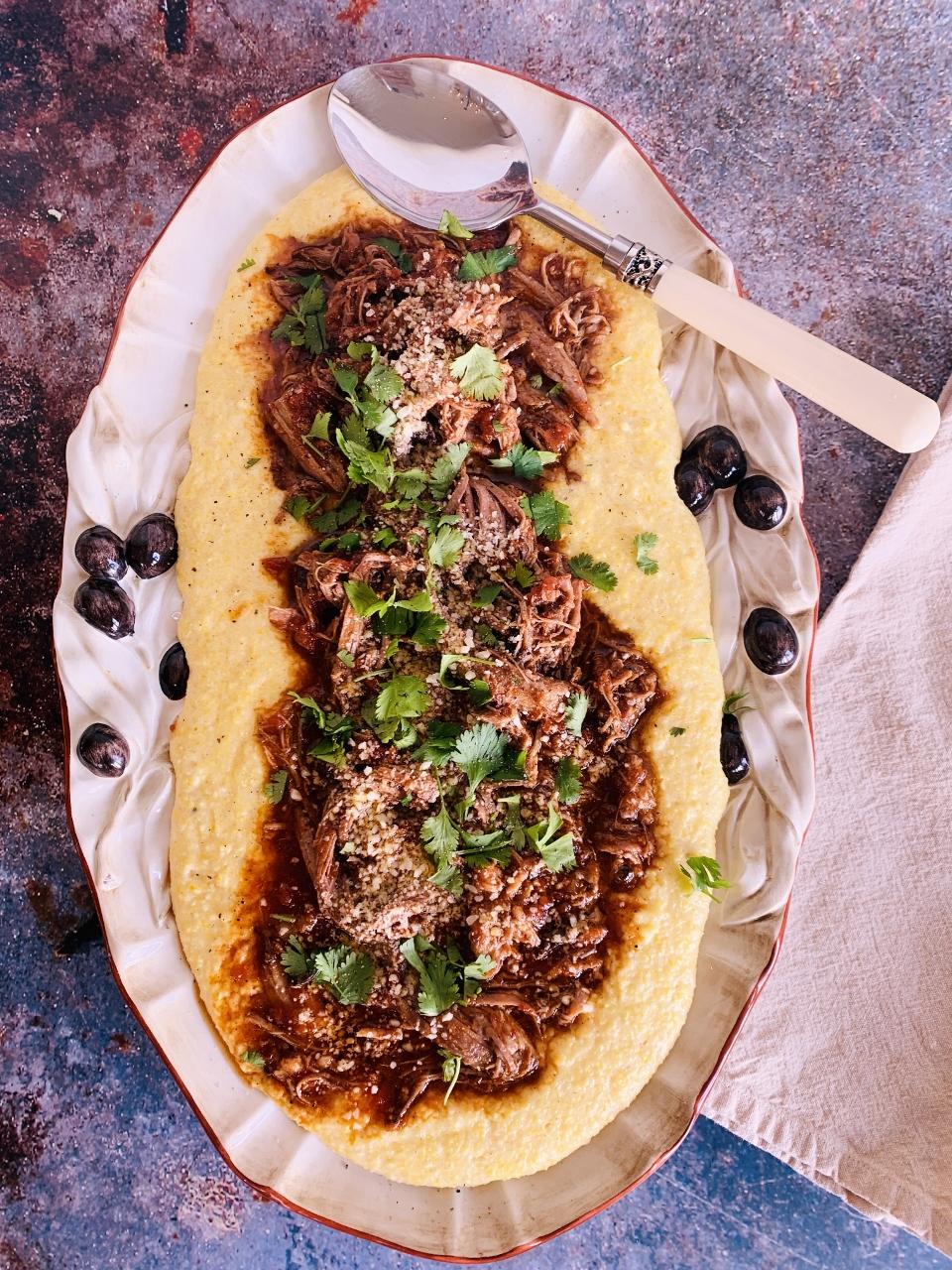 Slow-Cooker Pork Arrabbiata with Creamy Polenta – Recipe! Image 1