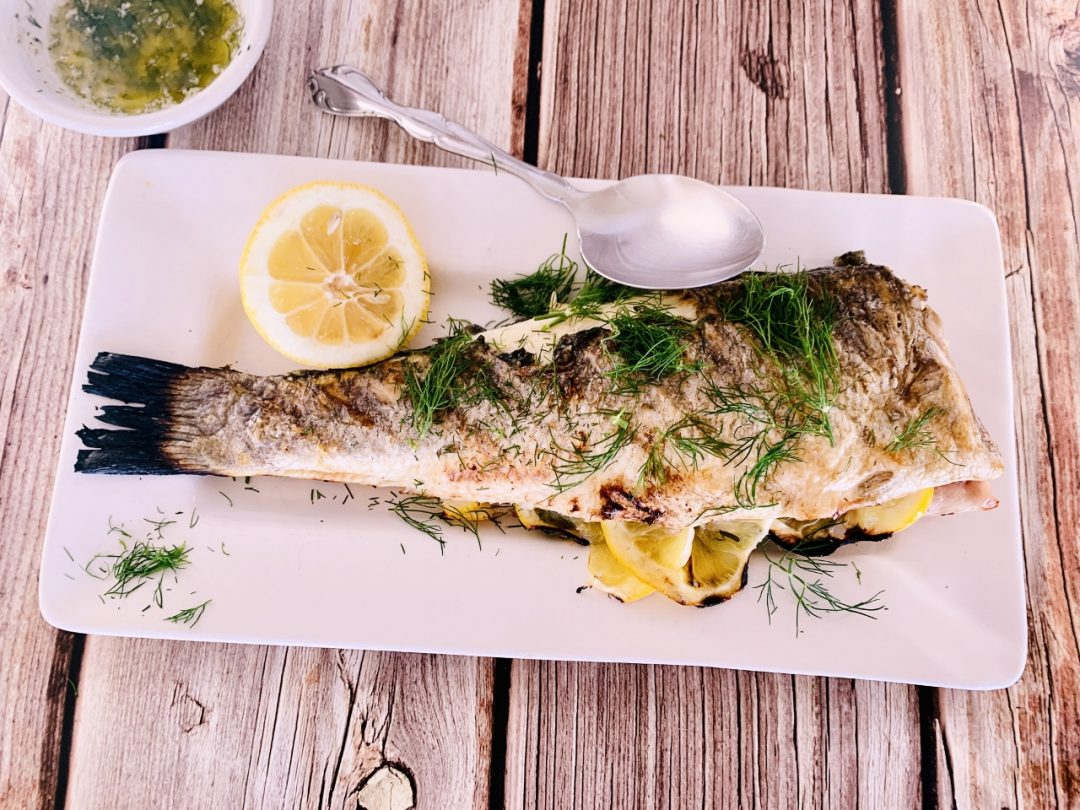 Grilled Whole Branzino with Dill Butter – Recipe! Image 1