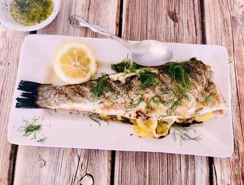 Grilled Whole Branzino with Dill Butter – Recipe!
