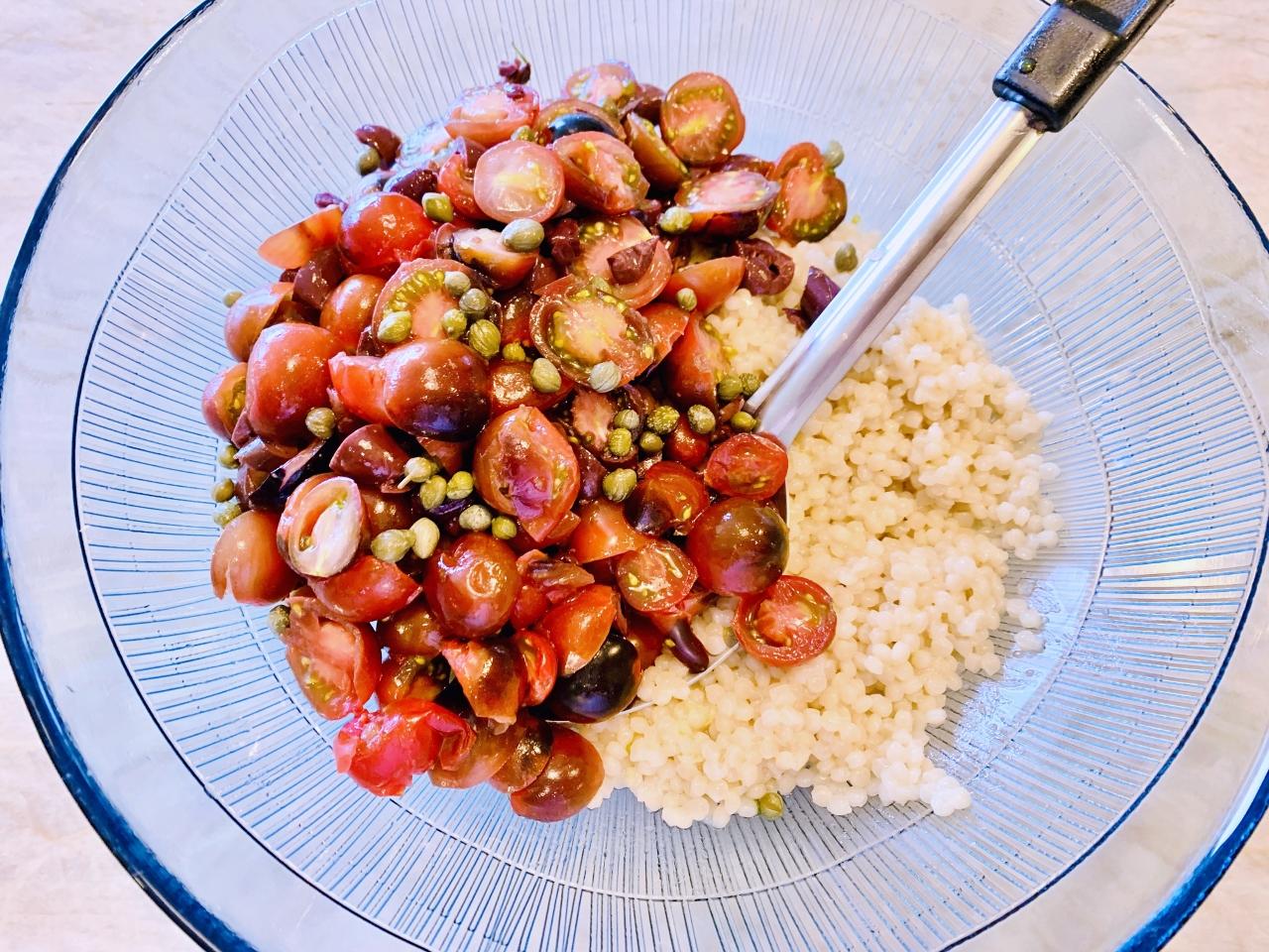 Israeli Couscous Puttanesca Salad – Recipe! Image 4