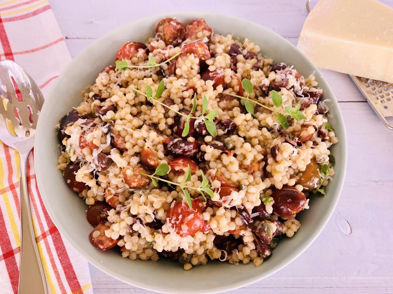 Israeli Couscous Puttanesca Salad – Recipe! Image 2