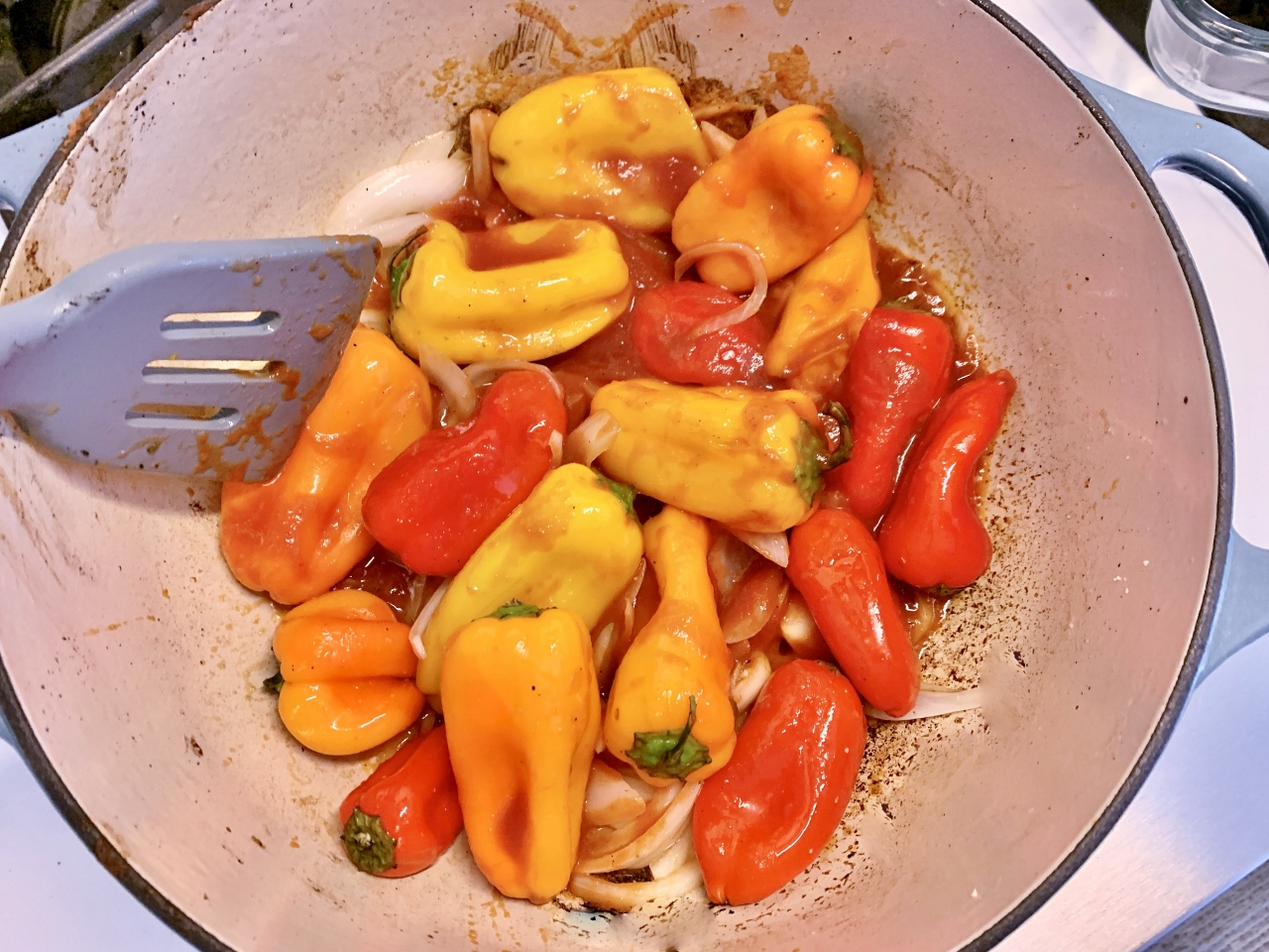 Slow Roasted Pork and Peppers Cavatappi with Ricotta & Basil – Recipe! Image 3