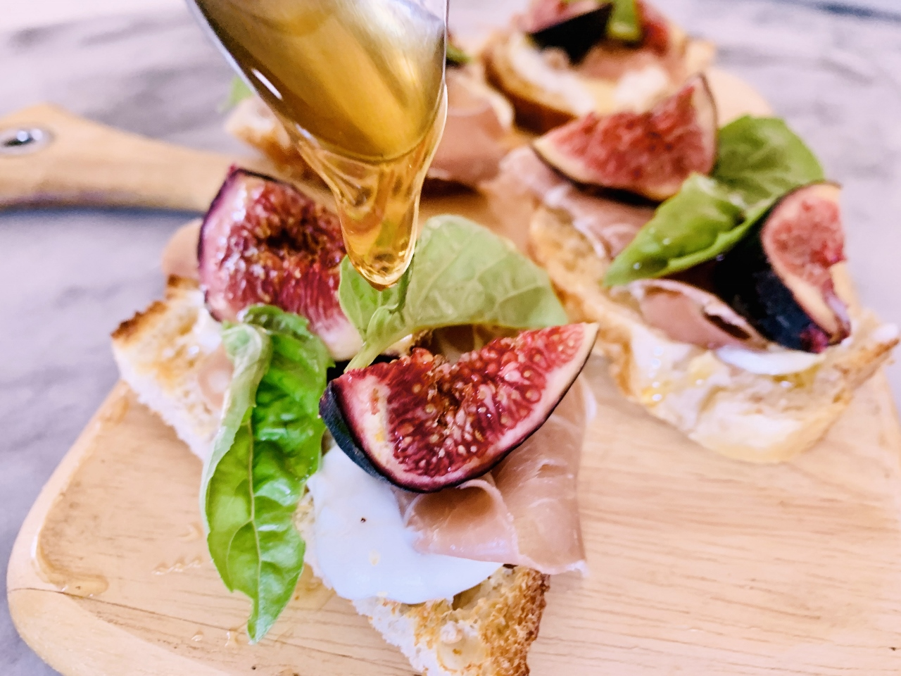 Whipped Goat Cheese, Prosciutto, Fig & Honey Toasts – Recipe! Image 4