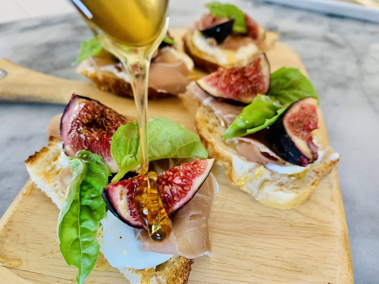 Whipped Goat Cheese, Prosciutto, Fig & Honey Toasts – Recipe! Image 2