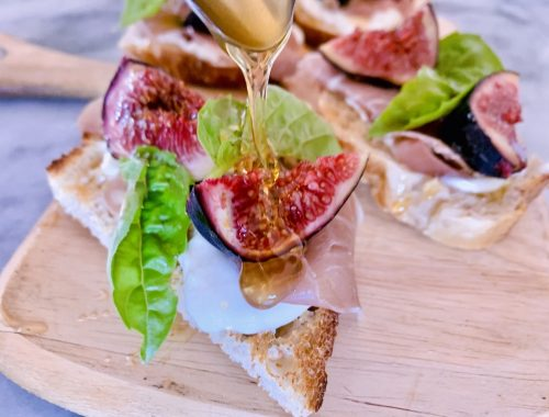 Whipped Goat Cheese, Prosciutto, Fig & Honey Toasts – Recipe!