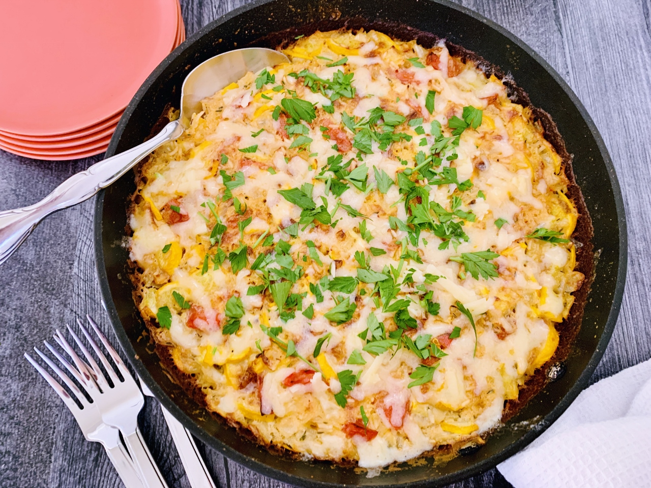 Cheddar, Tomato & Squash Rice Bake – Recipe! Image 4