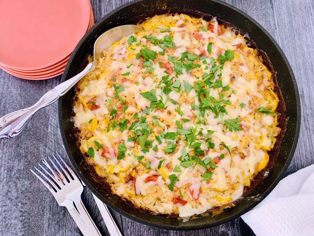 Cheddar, Tomato & Squash Rice Bake – Recipe! Image 1