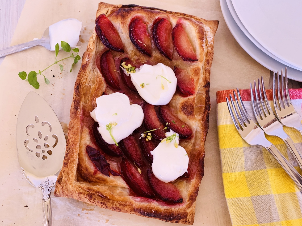 Easy Plum Tart with Whipped Ricotta – Recipe! Image 4