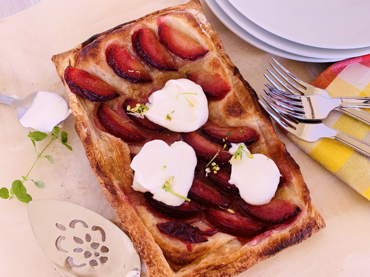 Easy Plum Tart with Whipped Ricotta – Recipe! Image 2