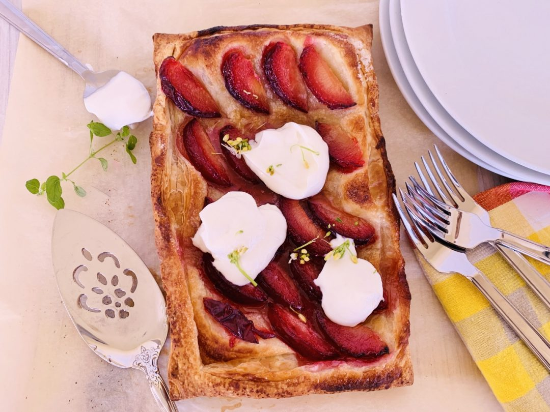 Easy Plum Tart with Whipped Ricotta – Recipe! Image 1