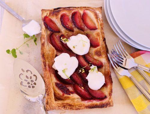 Easy Plum Tart with Whipped Ricotta – Recipe!